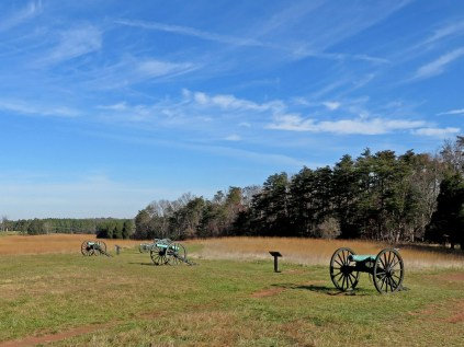 Confederate guns at Henry Hill